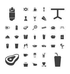37 restaurant icons vector