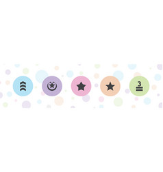 5 rating icons vector
