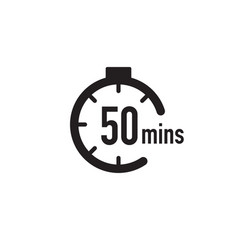 50 minutes timer stopwatch or countdown icon time vector