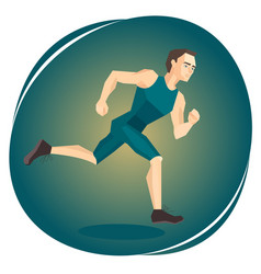 a running athlete vector image