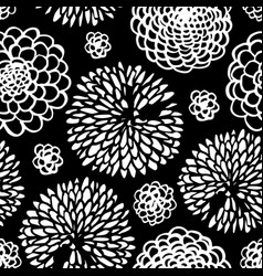 abstract line art flowers background vector image