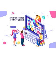 Abstract presentation monitor collection vector