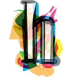 Artistic Font - Letter h vector