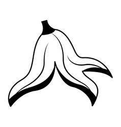 Banana peel isolated icon vector