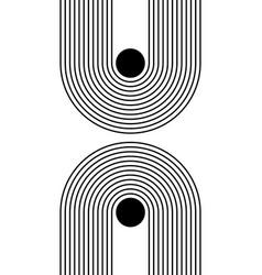Black and white modern poster art for print vector