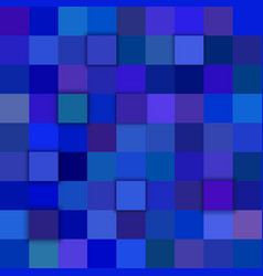 blue abstract 3d square background vector image