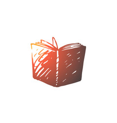 book open library education page concept hand vector image