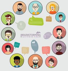 Brainstorming concept modern design infographic 2 vector