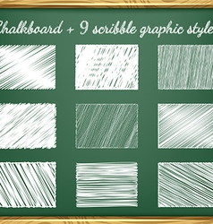 Chalk Graphic Styles vector image