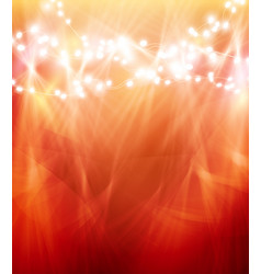 colourful glowing christmas lights and greeting vector image