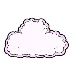 comic cartoon cloud symbol vector image