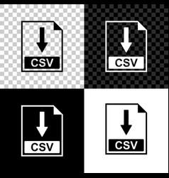 Csv file document icon download csv button icon vector