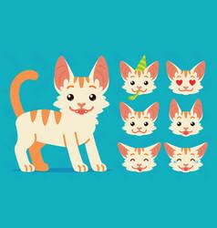 Cute cat standing of happy vector