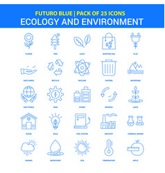 Ecology and enviroment icons - futuro blue 25 vector
