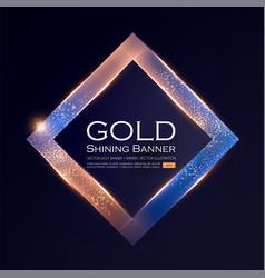 elegant shining banner with glitter light effect vector image