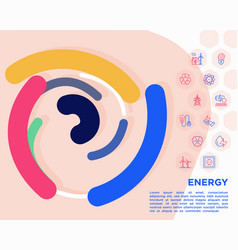 Energy conceptwith thin line icons vector