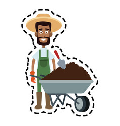 Farmer cartoon icon imag vector