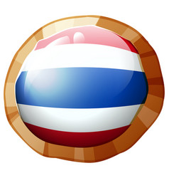 Flag of thailand on round badge vector