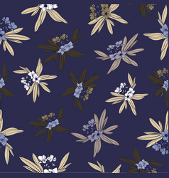 Floridian floral print tropical pattern background vector