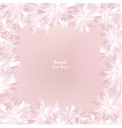 Flower cover floral frame flourish summer vector