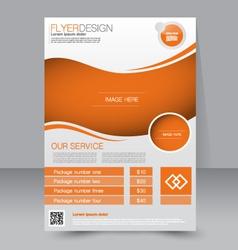 Flyer template Business brochure Editable A4 vector
