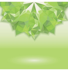 green triangle crystal horizontal vector image