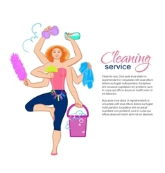 harvest goddess Cleaning service vector image