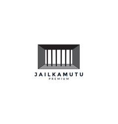Iron jail or prison logo icon design vector