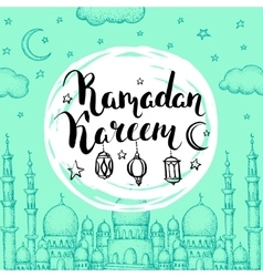 Islamic holiday background vector