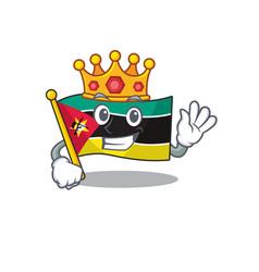 King indonesian flag mozambique on cartoon vector