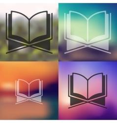 Koran icon on blurred background vector