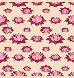 lotus grid big open flowers in rows repeat vector image