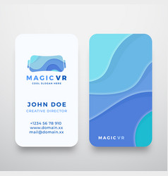 magic virtual reality abstract sign or logo vector image