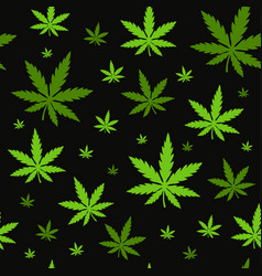 Marijuanagreen weed dope seamless pattern vector