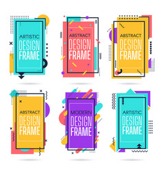memphis commercial frames minimalist abstract vector image