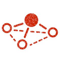 Molecule grunge icon vector