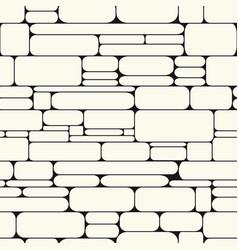 Monochrome stone wall seamless pattern vector