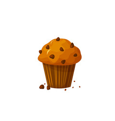 Muffin icon isolated on white background vector