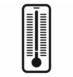 Outdoor thermometer icon black simple style vector image
