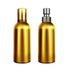perfume spray metallic bottle vector image