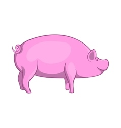 Pig icon cartoon style vector image