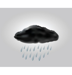 raincloud with raindrops in the dark sky vector image vector image