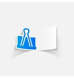 Realistic design element clip vector