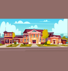 rental house estate cottage rent vector image