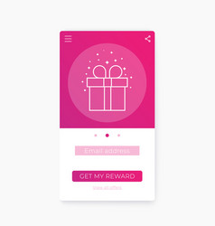 Reward app mobile ui template vector