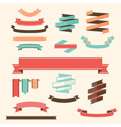 Ribbon Banner Set design elements vector image