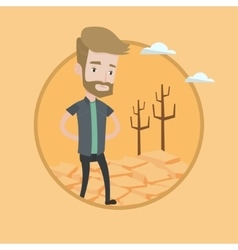 Sad man in the desert vector
