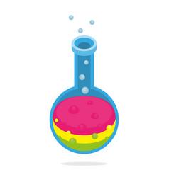 scientific alchemy or laboratory tube isometric vector image