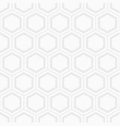 Seamless geometric abstract pattern of hexagons vector