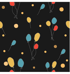 Seamless pattern with floating balloons vector